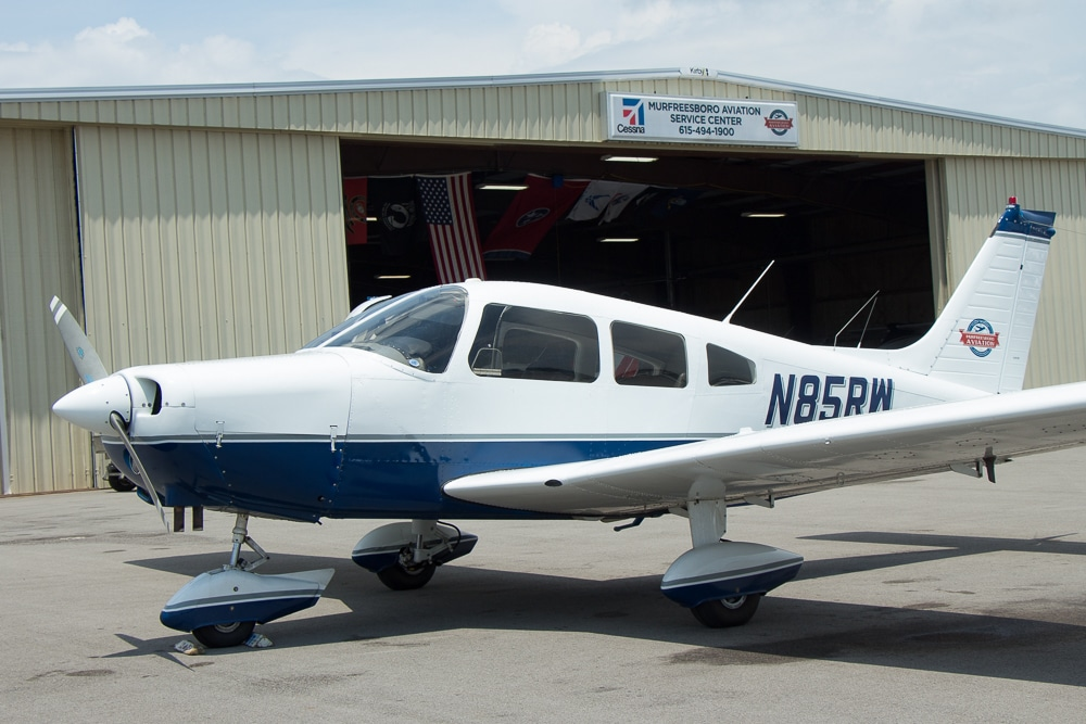Piper Cherokee Warrior Track N85RW on Radar - Fleet