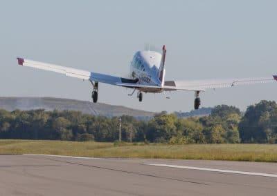 Aircraft departs from runway2