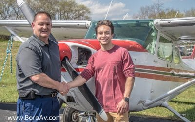 TOM TIPPIN, SON OF AARON TIPPIN, EARNS PRIVATE PILOT LICENSE AT MURFREESBORO AVIATION